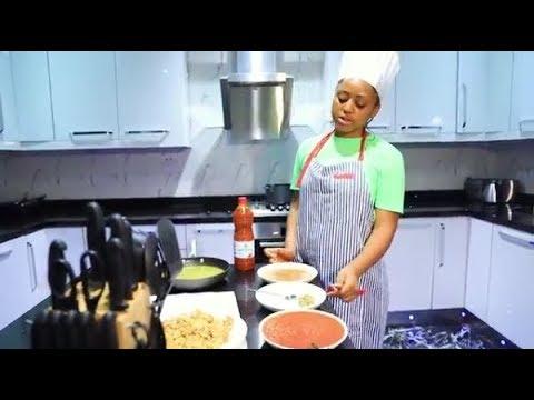 Regina Daniels Shows Her Cooking Skill, Prepares Okro Soup