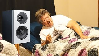LOUD MUSIC PRANK ON SLEEPING GRANDMA!