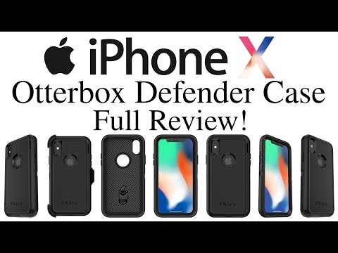 iPhone X - Otterbox Defender Case For The iPhone X Full Review!