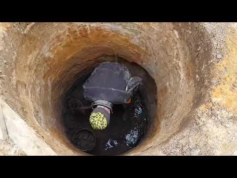 Копка колодца под ключ,речка водяная в песке,московская область зеленая опушка 2