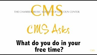 CMS Asks: What do you do in your free time?