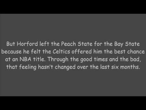 Celtics' Al Horford said it's 'surreal' to be back: 'Really appreciate ...