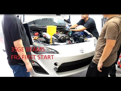 Scion FRS 3SGE Swap Install / First Start