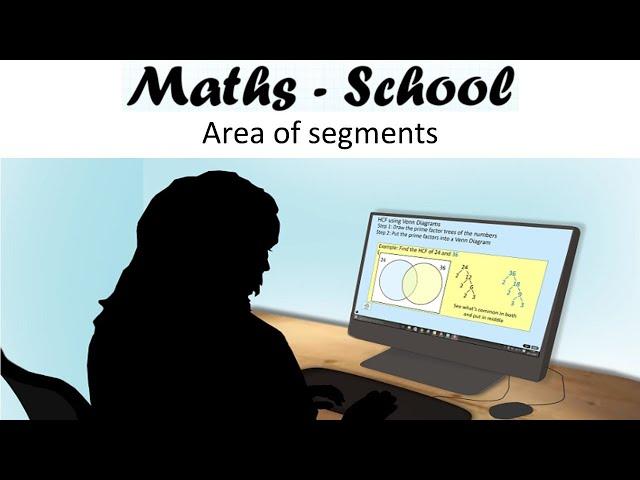 Area of segments Maths GCSE revision lesson ( Maths - School)