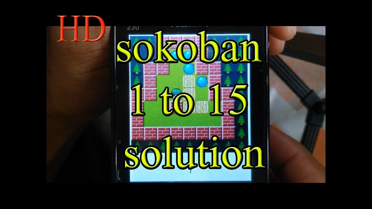 Sokoban Level Solution 1 2 3 4 5 6 7 8 9 10 11 12 13 14 And 15