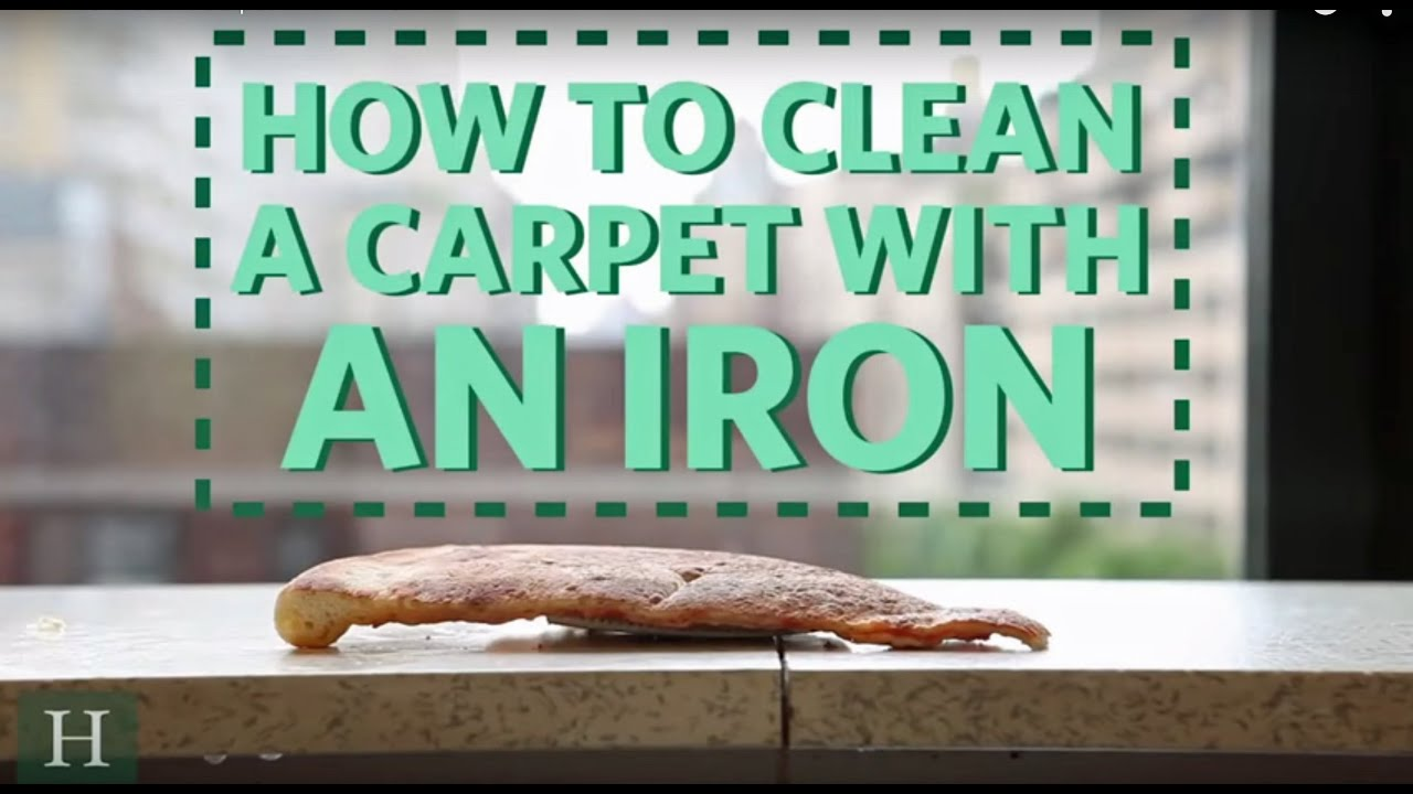 How To Clean A Carpet With An Iron - YouTube