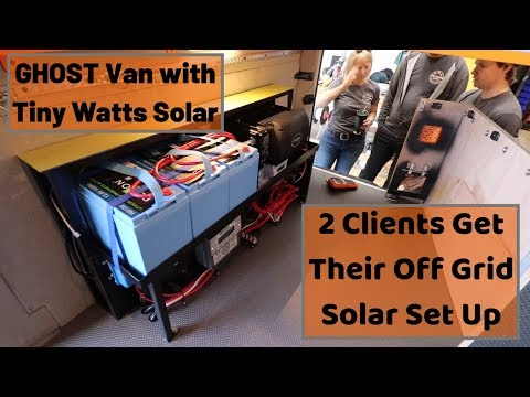 Solar Kits for Van Life by Tiny Watts Solar - Hand off for Two Clients