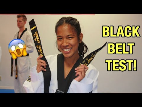 My 1st Dan Black Belt Test | (World Taekwondo)