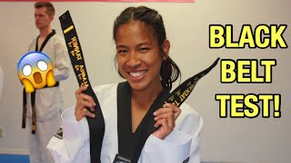 My 1st Dan Bląck Belt Test | (World Taekwondo)