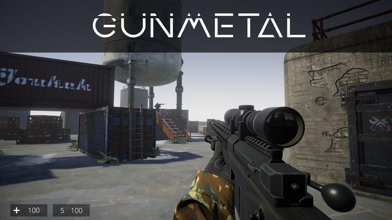 Unity3D Multiplayer FPS - Gunmetal Gameplay (Gun Game)
