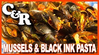 Mussels and Cuttlefish Ink Black Pasta Cook&Review   KBDProductionsTV