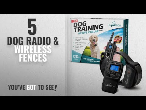 Top 10 Dog Radio & Wireless Fences [2018 Best Sellers]: PetTech Remote Controlled Dog Training