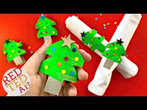 Toilet Paper Roll Christmas Tree Napkins DIY - Christmas Home Decor   Christmas Tree Ornaments DIY