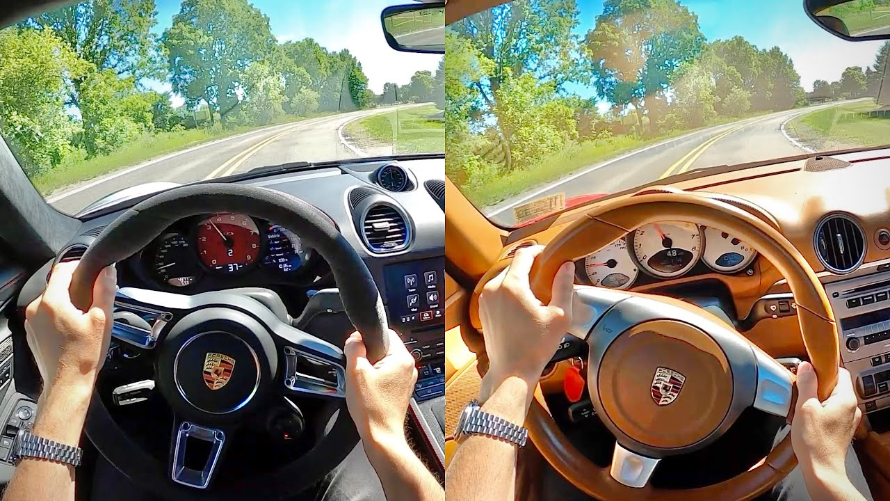 2021 Porsche 718 Cayman GTS 4.0 vs. The Original 987 Cayman S - POV Comparison
