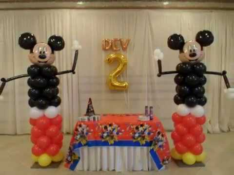 PARTY 83 Dancing Mickey Mouse Second Birthday Party Balloon Decorations