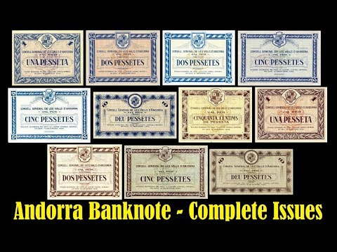 Andorra Banknotes - Complete Issue 1936   Collectors Paradise