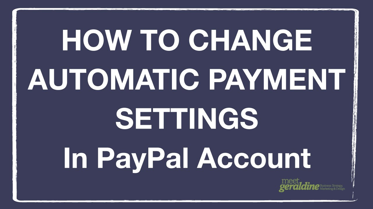 how to make automatic payments with paypal