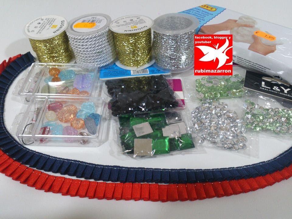 Compras de material para bisuteria y manualidades youtube - Material para hacer diademas ...