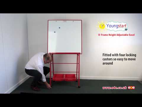 Youngstart Height Adjustable A Frame Classroom Whiteboard Easel
