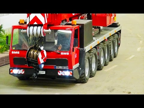 awesome RC truck crane, excavator & crane! special 20min! CA