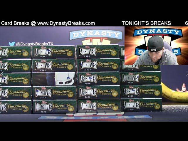 2020 Topps Archives Sig Series Retired Baseball Card 20 Box Case Break #1