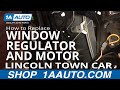 How To Replace Install Front Window Regulator and Motor PART 2 Lincoln Town Car 98-11 1AAuto.com