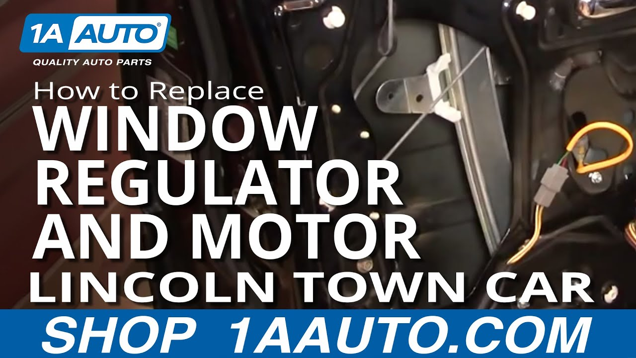 How To Replace Window Regulator With Motor 98 11 Lincoln Town Car Part 2