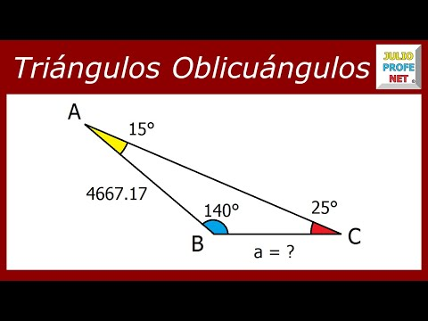 LEY DE SENOS - Problema 1