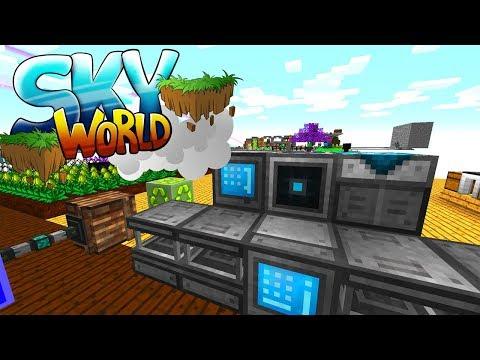 Autocrafting! Tier 3 Solar Array! OP Schwert! - Minecraft SKY WORLD #09