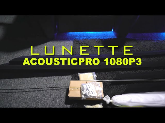 Lunette AcousticPro 1080P3 Review by Spare Change - Acoustically Transparent Projection Screen
