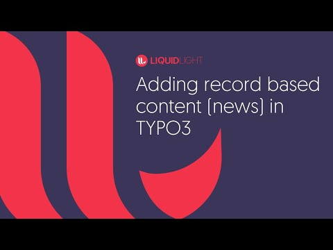 How to add record based content in TYPO3 - News, blog, events, people etc