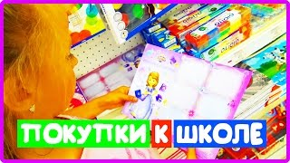 VLOG: ПОКУПКИ К ШКОЛЕ // КАНЦЕЛЯРИЯ / и Выбираем подарок на день рождения