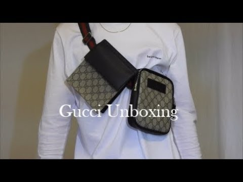 3ae1693cd3ce5 Gucci Unboxing - mens GG supreme belt bag | Oli Hillman - YouTube