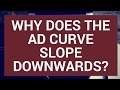 Why does the aggregate demand curve slope downwards?