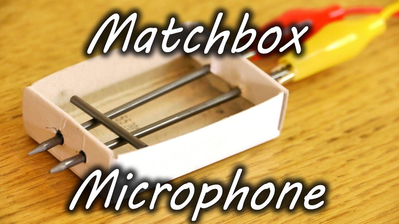 how to make a matchbox microphone [ 1280 x 720 Pixel ]