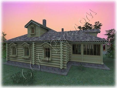 Дореволюционный деревенский дом, по проекту №47. Архитектор Г. Судейкин