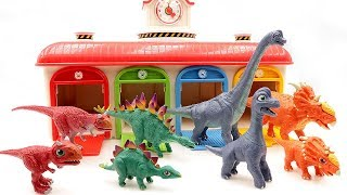 Learn Names Of Dinosaurs For Kids~ 공룡메카드 Dino Mecard Double Figure Set~ Dinosaur Toys