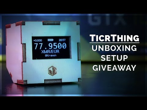 TicrThing: Unboxing / Setup | Bitcoin Price Ticker Gadget