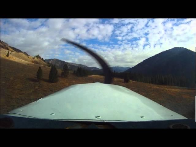 Landing at Warm Springs backcountry strip in Idaho!