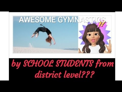 Awesome Gymnastics Telipukur High School Female district level students  gymnast trending 2018