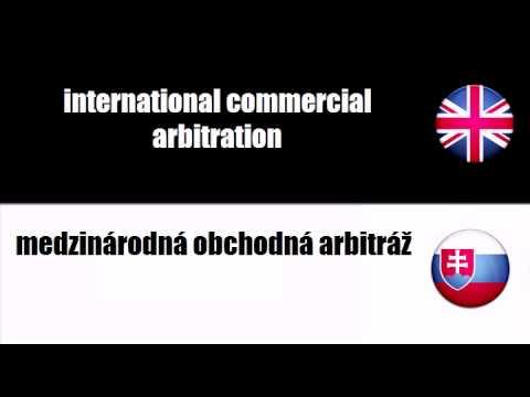 ENGLISH SLOVAK   commercial arbitration