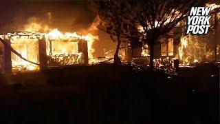 Man watches his neighborhood turn into an inferno | New York Post