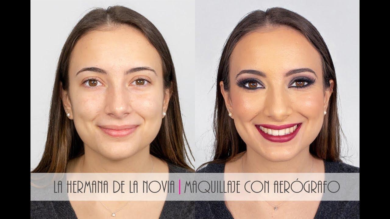 La hermana de la novia|Maquillaje con aerógrafo