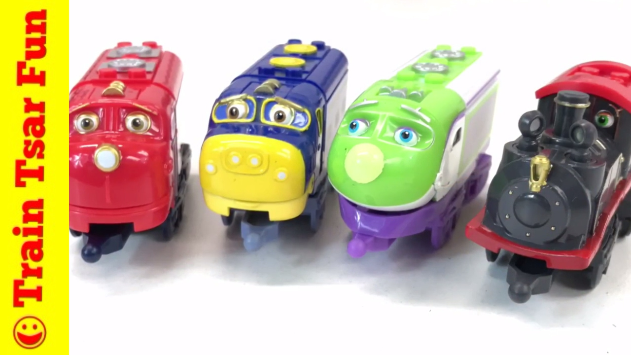 MEGA Bloks Chuggington Wilson, Brewster, Koko, Old Puffer Pete Trains Build  N Play