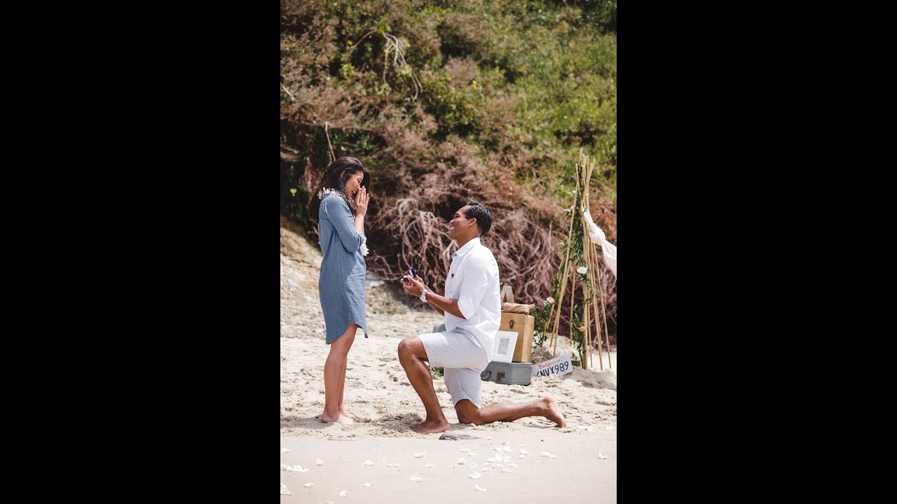 The BEST Beach Wedding Proposal Video