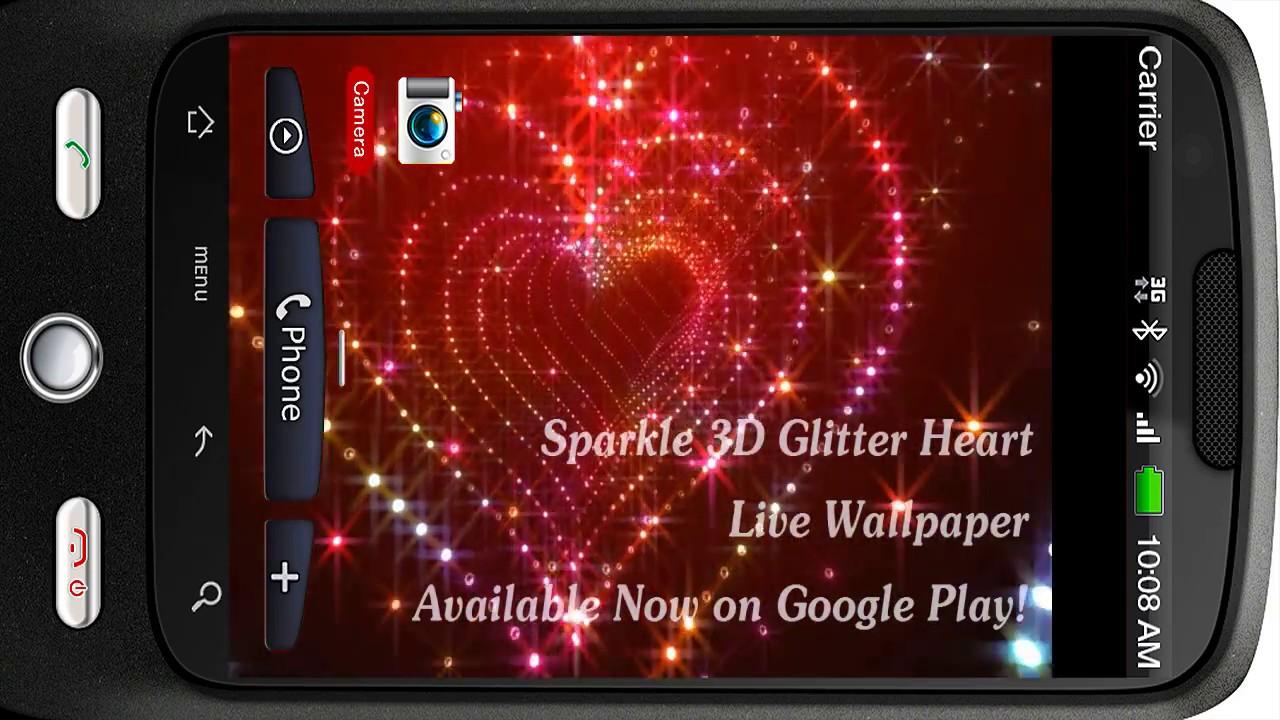 Tunnel glitter spark heart 3d live personalization for android tunnel glitter spark heart 3d live personalization for android piedlove voltagebd Images