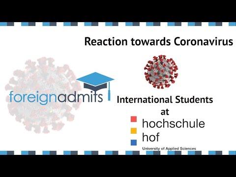 How Coronavirus Will Impact International Students? | Ep4 - MBA, (Hochschule Hof) | [ForeignAdmits]
