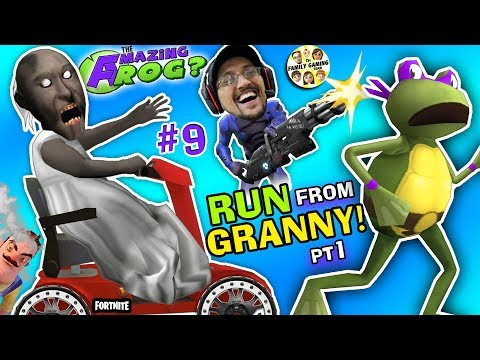 AMAZING FROG ESCAPE from GRANNY!  WE STOLE HER CART! (FGTEEV Ninja Turtles Hello Neighbor Drama) #9