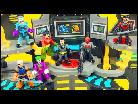 Batman Imaginext Batcave Playset & DC Superfriends Series 1 Blind Bags Figures Robin Slade Red Hood