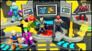 Batman Imaginext Batcave Playset & DC Superfriends Series 1 Blind Bags Figures Robin Slade Red Hood